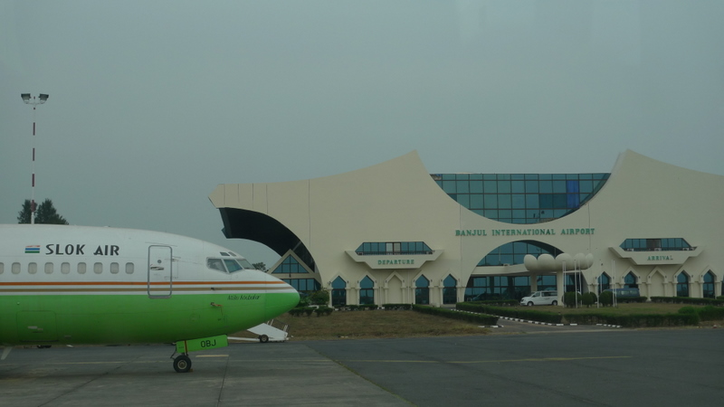 "Banjul's NASA-registered airport, and ""Slok Air"""