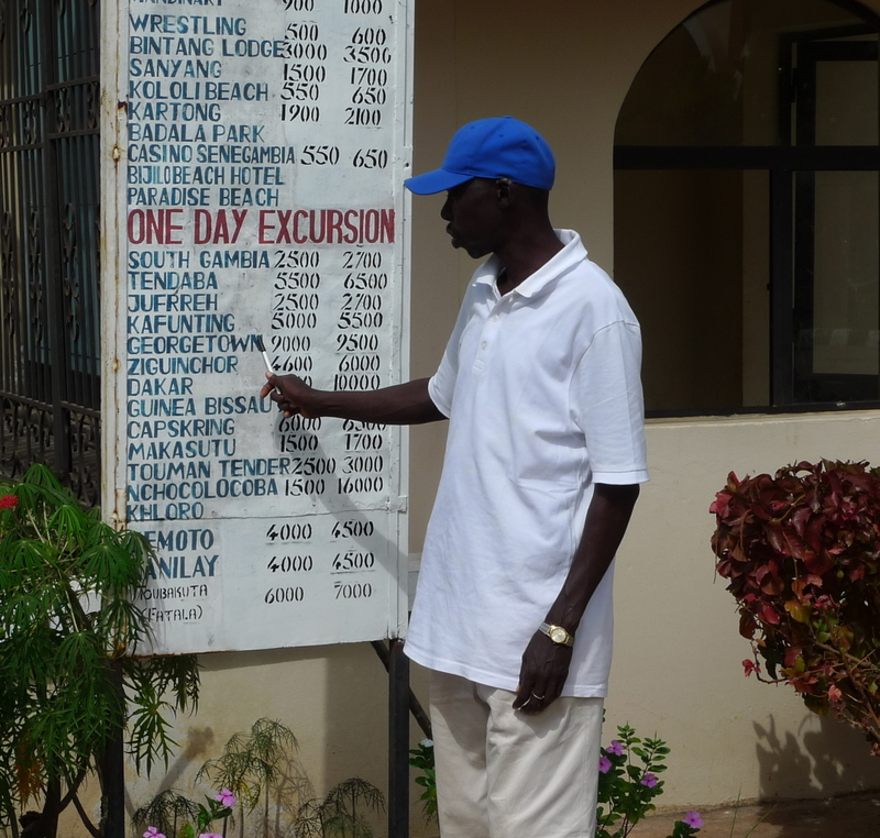 The Taxi Menu - Wrestling is an improbably popular sport in the Gambia