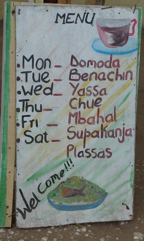 Typical Gambian menu - I want some SupaKanja!