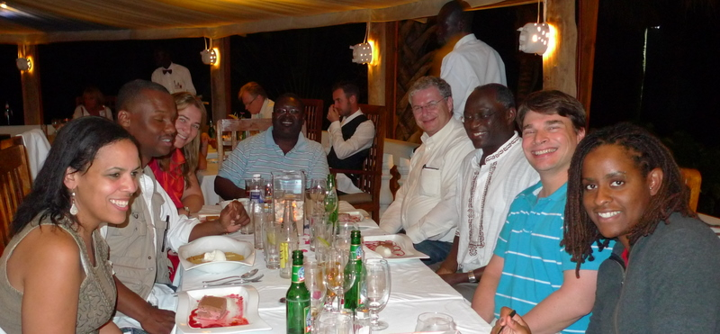 Dinner at Ngala Lodge before the conference started