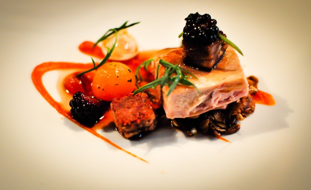 Yorkshire pheasant, pumpkin, muesli and buckthorn plantain