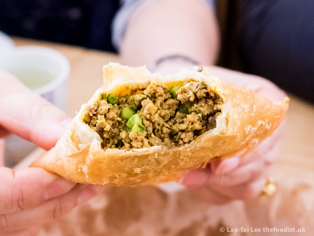 Sweet Mahal's meat samosa, greatness